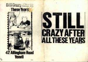 Still Crazy cover. Copyright Still Crazy